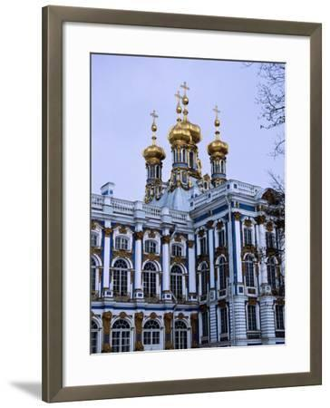 Grand Palace or Catherine Palace in Tsarskoye Selo, St. Petersburg, Russia-Martin Moos-Framed Photographic Print