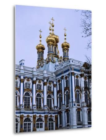 Grand Palace or Catherine Palace in Tsarskoye Selo, St. Petersburg, Russia-Martin Moos-Metal Print