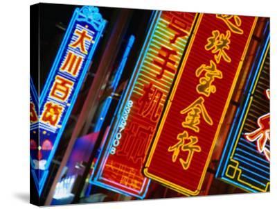 Lights of Nanjing Lu, Shanghai, China-Ray Laskowitz-Stretched Canvas Print