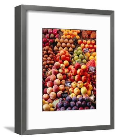Fruit at La Boqueria Market, Barcelona, Spain-Oliver Strewe-Framed Photographic Print