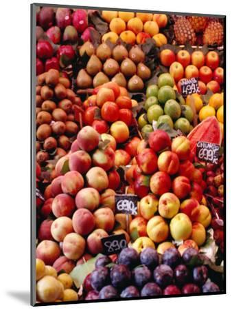 Fruit at La Boqueria Market, Barcelona, Spain-Oliver Strewe-Mounted Photographic Print