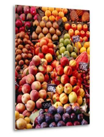 Fruit at La Boqueria Market, Barcelona, Spain-Oliver Strewe-Metal Print