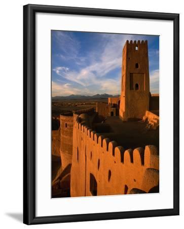 Citadel Tower in 2000 Year Old Arg-E Bam (Bam Citadel), Bam, Kerman, Iran-Mark Daffey-Framed Photographic Print