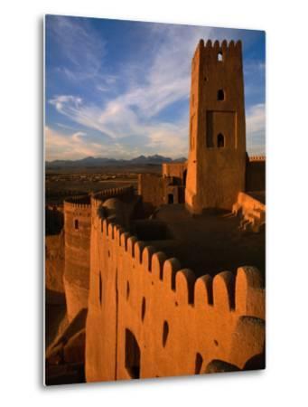 Citadel Tower in 2000 Year Old Arg-E Bam (Bam Citadel), Bam, Kerman, Iran-Mark Daffey-Metal Print