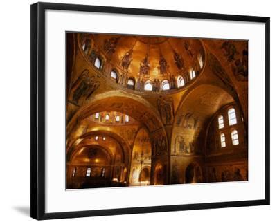 Mosaics of St. Mark's Basilica, Venice, Veneto, Italy-Roberto Gerometta-Framed Photographic Print