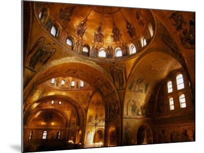 Mosaics of St. Mark's Basilica, Venice, Veneto, Italy-Roberto Gerometta-Mounted Photographic Print