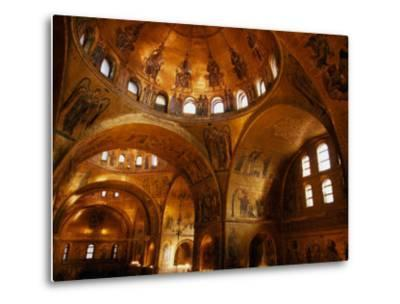 Mosaics of St. Mark's Basilica, Venice, Veneto, Italy-Roberto Gerometta-Metal Print