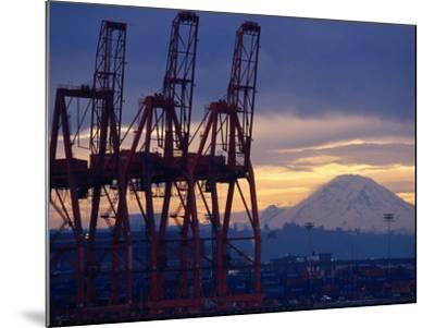Elliot Bay Industrial Waterfront, Seattle, Washington, USA-Lawrence Worcester-Mounted Photographic Print