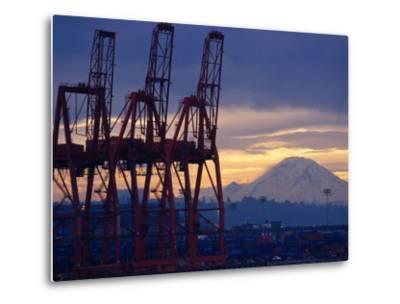 Elliot Bay Industrial Waterfront, Seattle, Washington, USA-Lawrence Worcester-Metal Print