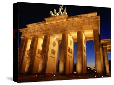 Brandeburg Gate at Dusk, Berlin, Germany-Richard Nebesky-Stretched Canvas Print