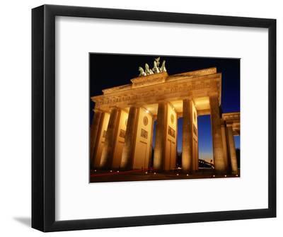 Brandeburg Gate at Dusk, Berlin, Germany-Richard Nebesky-Framed Photographic Print