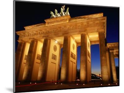 Brandeburg Gate at Dusk, Berlin, Germany-Richard Nebesky-Mounted Photographic Print