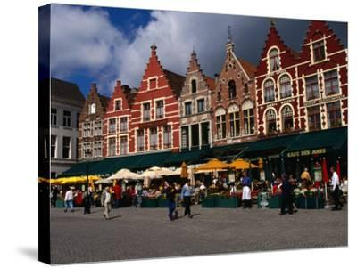 The Central Square in Brugges, Belgium-Doug McKinlay-Stretched Canvas Print