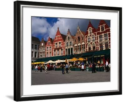 The Central Square in Brugges, Belgium-Doug McKinlay-Framed Photographic Print
