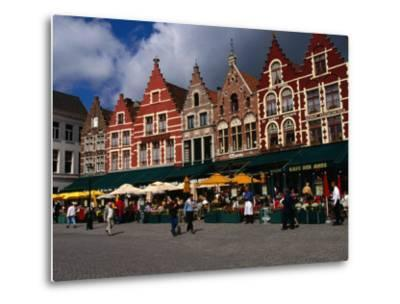 The Central Square in Brugges, Belgium-Doug McKinlay-Metal Print