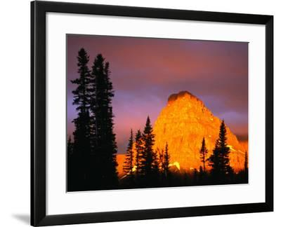 Sunrise on Sinopah Mountain at Two Medicine Lake - Glacier National Park, Montana, USA-John Elk III-Framed Photographic Print