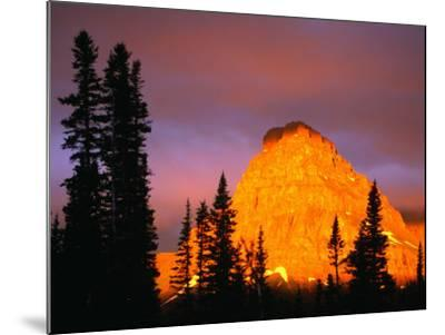Sunrise on Sinopah Mountain at Two Medicine Lake - Glacier National Park, Montana, USA-John Elk III-Mounted Photographic Print