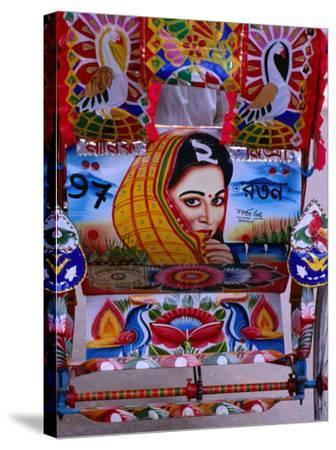 Decorated Rickshaw, Dhaka, Dhaka, Bangladesh-Richard I'Anson-Stretched Canvas Print