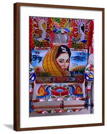 Decorated Rickshaw, Dhaka, Dhaka, Bangladesh-Richard I'Anson-Framed Photographic Print