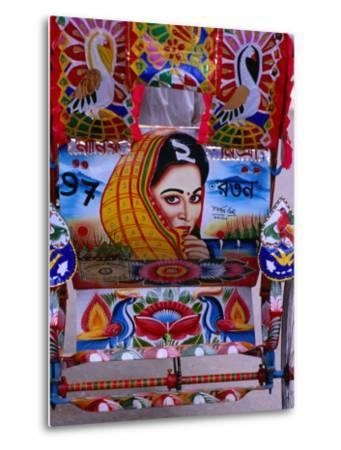 Decorated Rickshaw, Dhaka, Dhaka, Bangladesh-Richard I'Anson-Metal Print