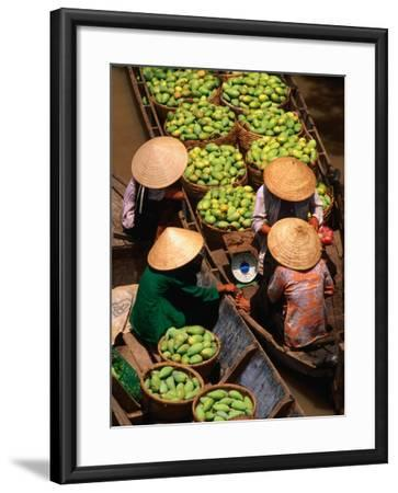 Floating Market along the Mekong Delta, an Giang, Vietnam-John Banagan-Framed Photographic Print