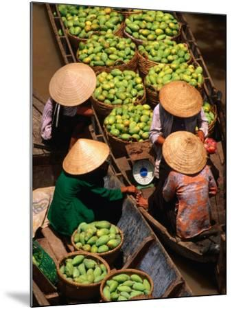 Floating Market along the Mekong Delta, an Giang, Vietnam-John Banagan-Mounted Photographic Print