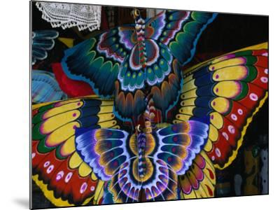 Hand-Crafted Butterfly Kites for Sale, Gianyar, Indonesia-Paul Beinssen-Mounted Photographic Print