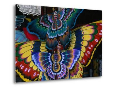 Hand-Crafted Butterfly Kites for Sale, Gianyar, Indonesia-Paul Beinssen-Metal Print