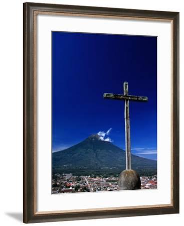 Antigua City and Water Volcano, Sacatepequez, Guatemala-Alfredo Maiquez-Framed Photographic Print