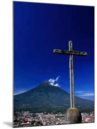 Antigua City and Water Volcano, Sacatepequez, Guatemala-Alfredo Maiquez-Mounted Photographic Print