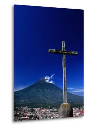 Antigua City and Water Volcano, Sacatepequez, Guatemala-Alfredo Maiquez-Metal Print