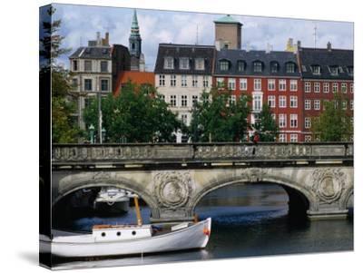 The Marble Bridge Over Frederiksholms Canal, Copenhagen, Denmark-Anders Blomqvist-Stretched Canvas Print