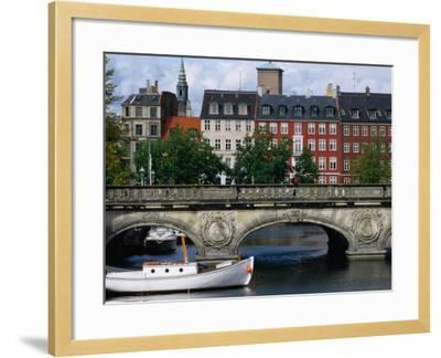 The Marble Bridge Over Frederiksholms Canal, Copenhagen, Denmark-Anders Blomqvist-Framed Photographic Print