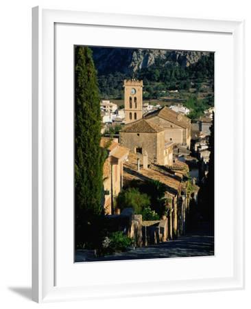 Pollenca Village from the Calvary Steps, Mallorca, Balearic Islands, Spain-David Tomlinson-Framed Photographic Print