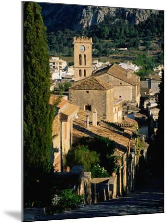 Pollenca Village from the Calvary Steps, Mallorca, Balearic Islands, Spain-David Tomlinson-Mounted Photographic Print