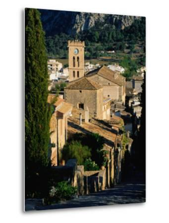 Pollenca Village from the Calvary Steps, Mallorca, Balearic Islands, Spain-David Tomlinson-Metal Print