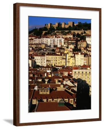 Rooftops and Buildings of City, Lisbon, Portugal-Bethune Carmichael-Framed Photographic Print
