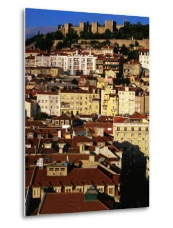 Rooftops and Buildings of City, Lisbon, Portugal-Bethune Carmichael-Metal Print