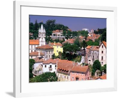 Buildings and Rooftops of City, Sintra, Portugal-Bethune Carmichael-Framed Photographic Print