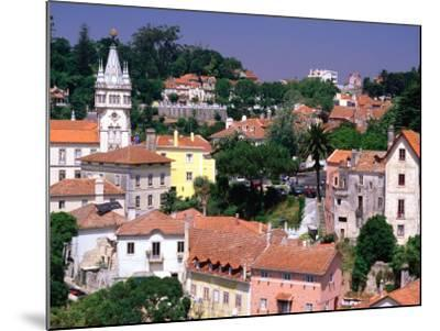 Buildings and Rooftops of City, Sintra, Portugal-Bethune Carmichael-Mounted Photographic Print