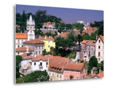 Buildings and Rooftops of City, Sintra, Portugal-Bethune Carmichael-Metal Print
