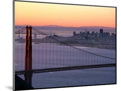 Dawn Over the Golden Gate Bridge from Marin Headlands, San Francisco, California, USA-David Tomlinson-Mounted Photographic Print
