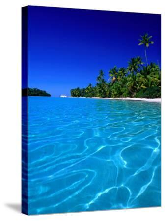 Tropical Lagoon Waters, Aitutaki, Southern Group, Cook Islands-Peter Hendrie-Stretched Canvas Print