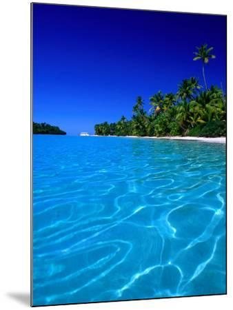 Tropical Lagoon Waters, Aitutaki, Southern Group, Cook Islands-Peter Hendrie-Mounted Photographic Print