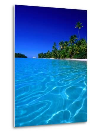 Tropical Lagoon Waters, Aitutaki, Southern Group, Cook Islands-Peter Hendrie-Metal Print