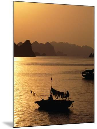 Dusk Over Halong Bay, Halong City, Vietnam-Oliver Strewe-Mounted Photographic Print