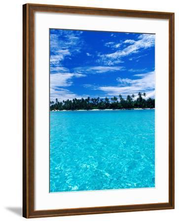 Motu (Islet) in Lagoon, French Polynesia-Jean-Bernard Carillet-Framed Photographic Print