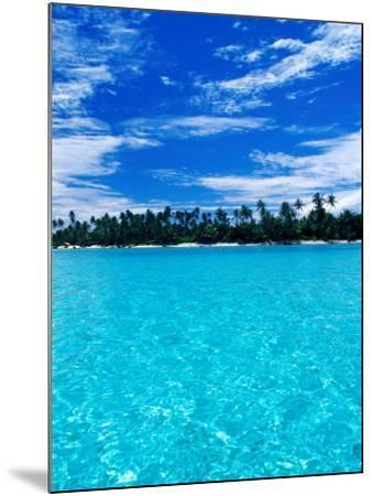 Motu (Islet) in Lagoon, French Polynesia-Jean-Bernard Carillet-Mounted Photographic Print