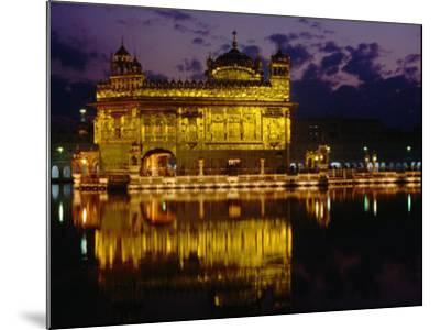 Golden Temple (Harmandir Sahib) on Waterfront, Amritsar, Punjab, India-Richard I'Anson-Mounted Photographic Print