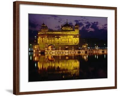 Golden Temple (Harmandir Sahib) on Waterfront, Amritsar, Punjab, India-Richard I'Anson-Framed Photographic Print